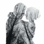 木陰の二人